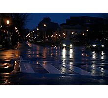 After A Late Night Rain Photographic Print
