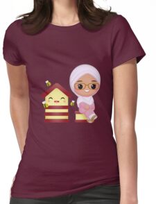 Cute Queen Bee Womens Fitted T-Shirt