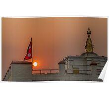 The temple - Lumbini Poster