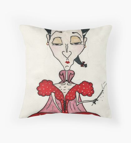 Mrs Joze Mont Throw Pillow