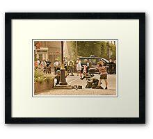 Resistance help Framed Print