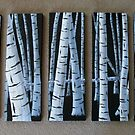 Fallen Birch Tree by Pamela Burger