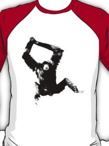 Siamang Gibbon. Wildlife Digital Engraving Image T-Shirt