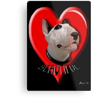 LOVE for my Bull Terrier Metal Print