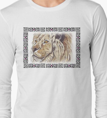 African Lion - Ethnic series Long Sleeve T-Shirt