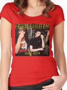 Rip Crystal Castles Women's Fitted Scoop T-Shirt