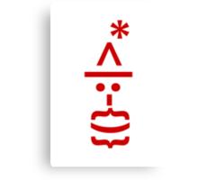 Santa with Beard Smiley Emoticon Canvas Print