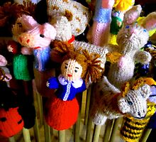 Finger Puppets Photograph from Carl Sandburg's home by WhimsyvilleUSA