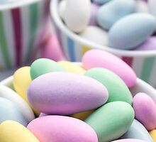 Colorful Jordan Almond Candy Buffet by Edward Fielding