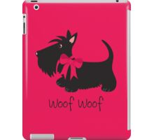Woof Woof Scottie Dog iPad Case/Skin