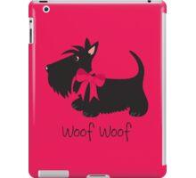 Woof Woof Scottie Dog iPad Case/Skin