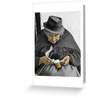 Indigenous Straw Weaver Greeting Card