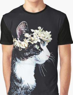 Vintage Cat Graphic T-Shirt