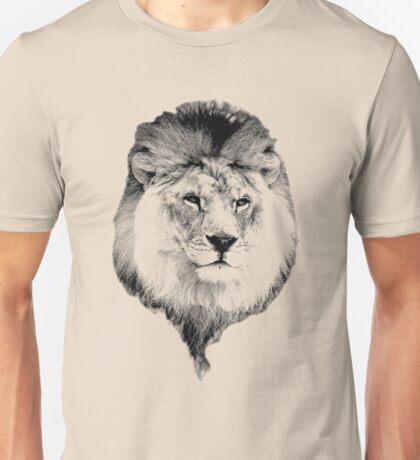 Majestic Lion. Wildlife Digital Engraving Image Unisex T-Shirt