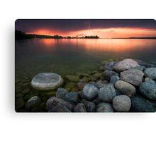 Lightning at Sunset - Leech Lake, MN Canvas Print