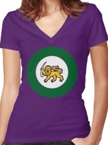 Rhodesian Air Force Emblem Women's Fitted V-Neck T-Shirt