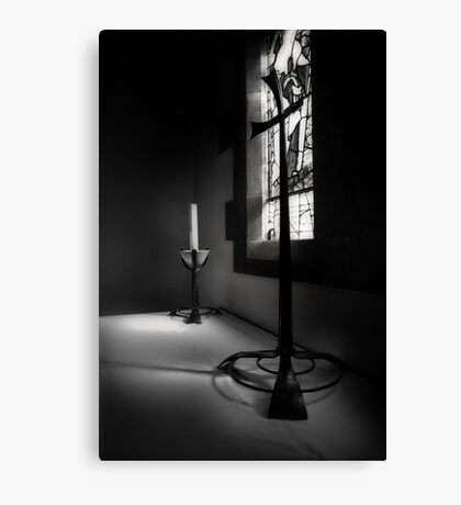 Candle and Cross Canvas Print