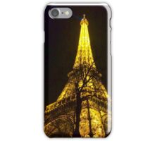 Winter Night Eiffel Tower  iPhone Case/Skin