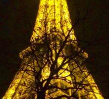 Winter Night Eiffel Tower  Sticker