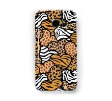 Fun animal pattern hearts Samsung Galaxy Case/Skin
