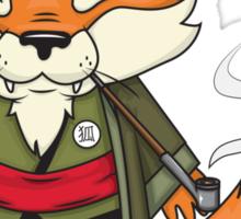 Samurai Fox Sticker