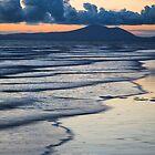 Wave Patterns at Sunset by Heidi Stewart