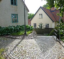 Cobble Courtyard Visby Gotland by SoulSparrow