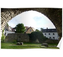 Visby Old Church Ruins Poster