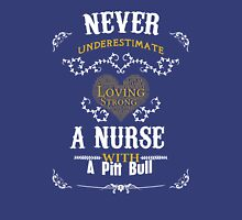 A Nurse with a Pitt Bull Unisex T-Shirt