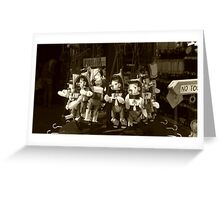 A bunch of Pinocchio's  Greeting Card