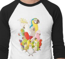 Parrot Party Men's Baseball ¾ T-Shirt