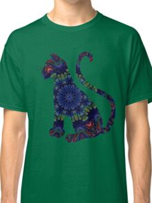 Blue Green Abstract Tile 5 Classic T-Shirt