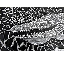 247 - CROCODILE - DAVE EDWARDS - INK - 2013 Photographic Print