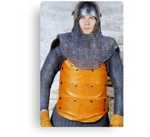 Medieval Soldier in Armour Canvas Print