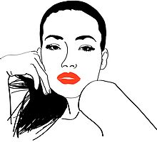 Girl with red lips by artMoni