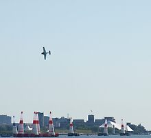 Scene From Red Bull Air Race - 1 by Barry W  King