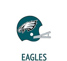 Philadelphia Eagles NFL Helmet iPhone Case by aschwall33