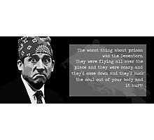 The Office - Prison Mike Photographic Print