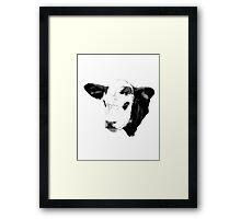 Cow Digital Engraving. Farm Animal Prints and Images Framed Print