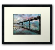 Fogged Sunrise Framed Print