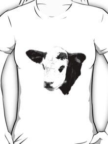 Cow Digital Engraving. Farm Animal Prints and Images T-Shirt
