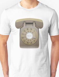 Rotary Phone (beige on white) T-Shirt