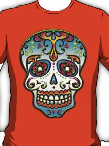 Mexican Sugar Skull, Day of the Dead, Dias de los muertos T-Shirt