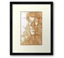 A Study in Coffee Framed Print