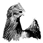 Rooster Digital Engraving. Farm Animal Images and Prints. by digitaleclectic