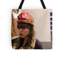The Model in the Paper Maché Hat Tote Bag