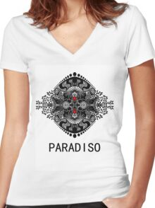 PARADISO- The order of nature Women's Fitted V-Neck T-Shirt