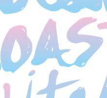 West Coast Witch Tumblr Soft Grunge Pastel Typography 90s Print Sticker