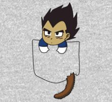 Chibi Vegeta in shirt pocket by msdbzbabe