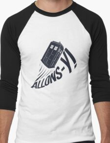 """Allons-y !"" - The Doctor Men's Baseball ¾ T-Shirt"
